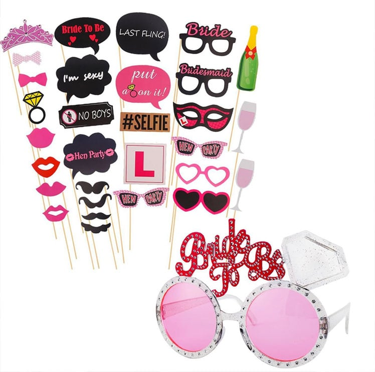 Gafas para despedidas de solteras.